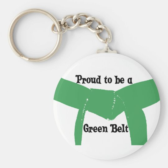 Martial Arts Proud to be a Green Belt Keychain