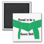 Martial Arts Proud to be a Green Belt 2 Inch Square Magnet