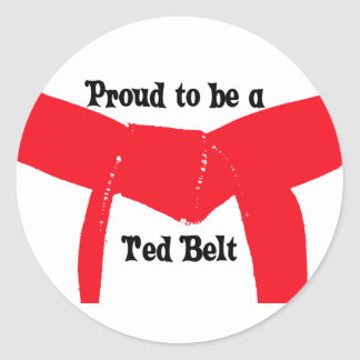 Martial Arts Proud to be a Red Belt Classic Round Sticker