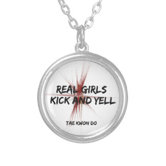 Martial Arts Real Girls Kick and Yell Necklace