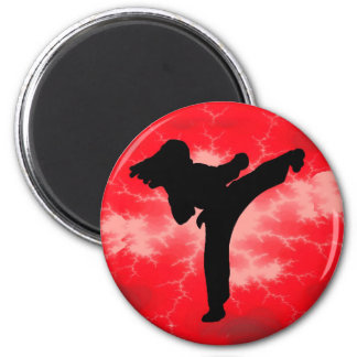 Martial Arts Red Lightning woman Magnet