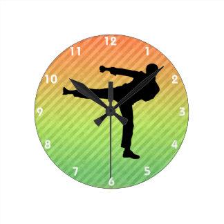 Martial Arts Round Clock