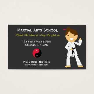 Martial Arts School Business Card