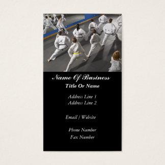 Martial Arts School Business Card
