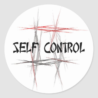 Martial Arts Self Control Classic Round Sticker