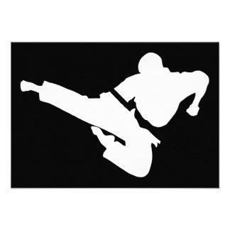 martial arts silhouette announcement