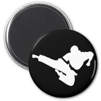 martial arts silhouette magnets
