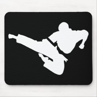 martial arts silhouette mouse pad