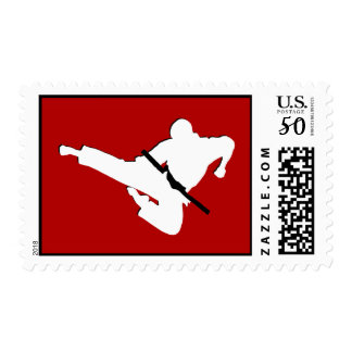 martial arts silhouettes postage
