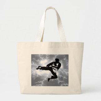 Martial Arts Silver Lightning man Canvas Bag