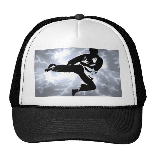 Martial Arts Silver Lightning man Trucker Hat