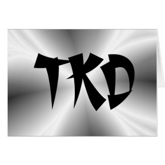 Martial Arts Silver TKD Note Card