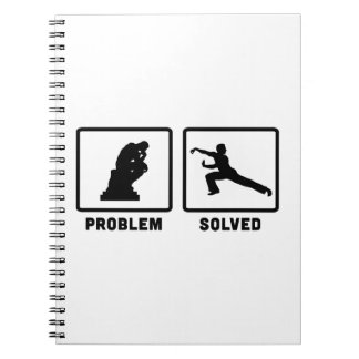 Martial Arts Spiral Notebook