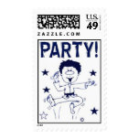 Martial Arts Stamps for Party Invitations Boy