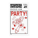 Martial Arts Stamps for Party Invitations Girl