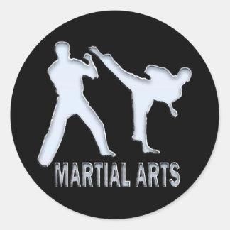 MARTIAL ARTS CLASSIC ROUND STICKER