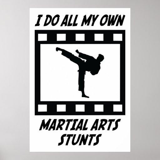 Martial Arts Stunts Poster