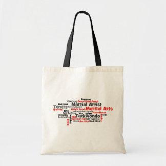Martial Arts Taekwondo Word Cloud Tote Bag