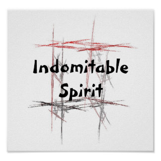 Martial Arts Tenets Indomitable Spirit Poster