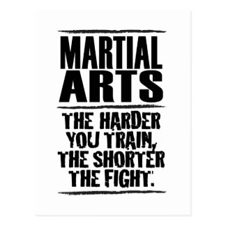 Martial Arts – The harder you train Postcard