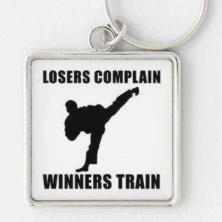 Martial Arts Winners Train Keychain
