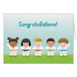 Martial Arts World Kids Congratulations Card Tarjeta De Felicitación