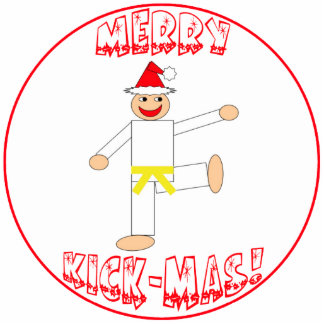 Martial Arts Yellow Belt Christmas Ornament Photo Cutout