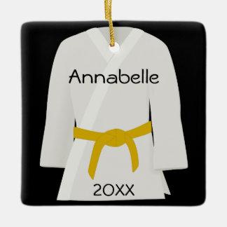 Martial Arts Yellow Belt Ornament