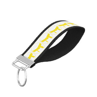 Martial Arts Yellow Belt Wrist Keychain