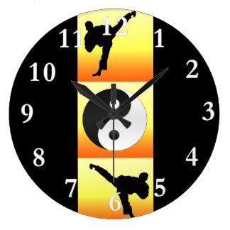 Martial Arts Yin Yang Clock