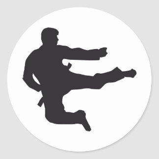 martially kind classic round sticker