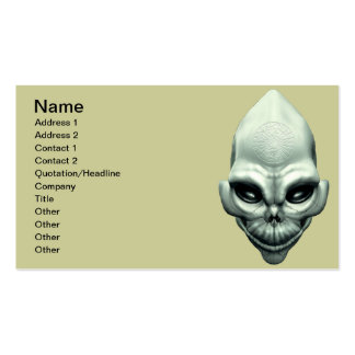 Martian Alien Extraterrestrial Outer Space Skull Business Card