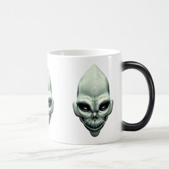 Martian Alien Extraterrestrial Outer Space Skull Magic Mug