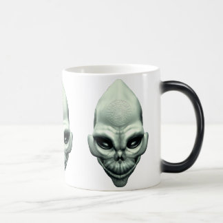 Martian Alien Extraterrestrial Outer Space Skull Coffee Mug