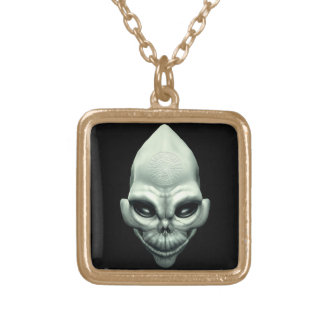 Martian Alien Extraterrestrial Outer Space Skull Necklace