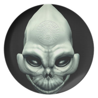 Martian Alien Extraterrestrial Outer Space Skull Plate