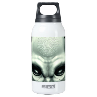 Martian Alien Extraterrestrial Outer Space Skull Thermos Bottle