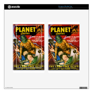 Martian and Earth Girl Kindle Fire Skins