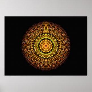 Martian Aztec Tant (5x7) Poster