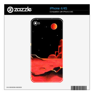 MARTIAN CITY DECALS FOR THE iPhone 4S