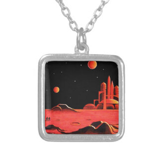 MARTIAN CITY SILVER PLATED NECKLACE