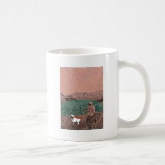 Martian Colony Walking the Dog on Mars Coffee Mug