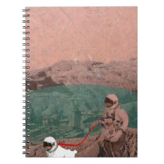 Martian Colony Walking the Dog on Mars Notebook