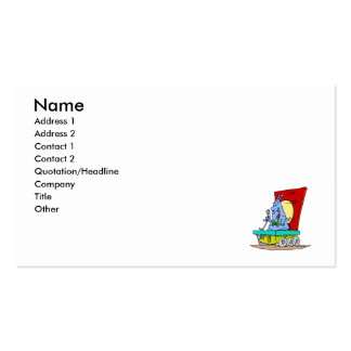 Martian Comedian Double-Sided Standard Business Cards (Pack Of 100)