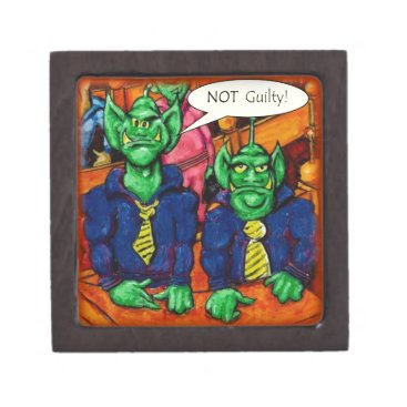 Lawyer Themed Martian Defense Lawyer Jewelry Box
