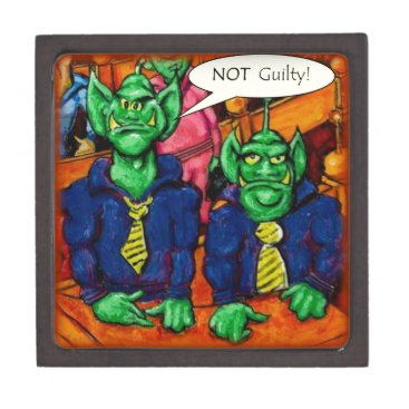 Lawyer Themed Martian Defense Lawyer Keepsake Box