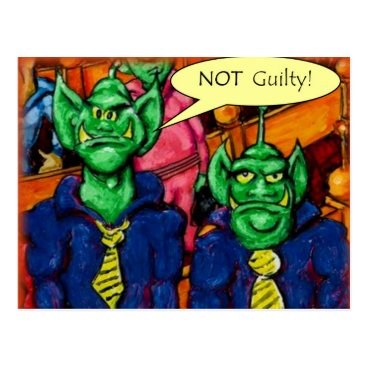 Lawyer Themed Martian Defense Lawyer Postcard