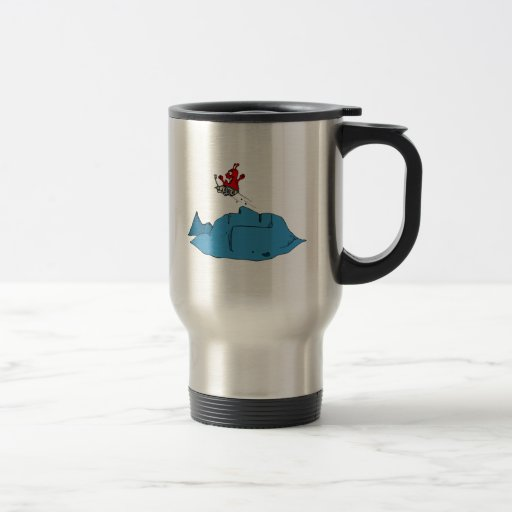 Martian Driving Rover off Ramp Coffee Mugs