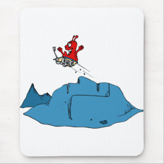 Martian Driving Rover off Ramp Mouse Pad