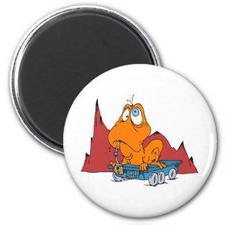 Martian Eating Mars Rover Fridge Magnet